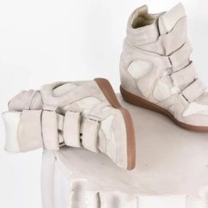 Isabel Marant Bekett Wedge Sneakers NEW sz 38 $695